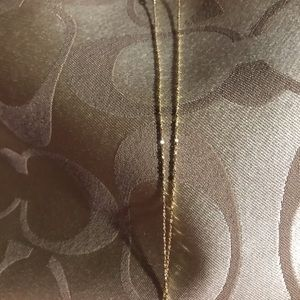 Delicate real gold necklace